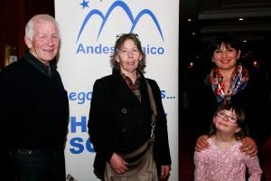 Henry Purcell , Collen Purcell ( Hotel Portillo )  y Patricia Cornejo y su hija Sofía Lira ( Fundo Los Maitenes )