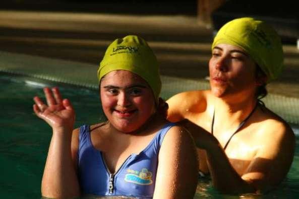 Anita en Hidroterapia