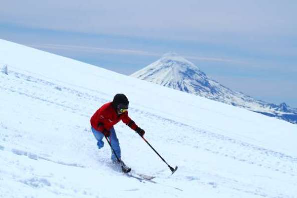 Ski sobre el Glaciar del Volcán Mocho